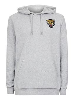 Grey Tiger Badge Hoodie