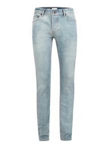 Topman Light Wash Stretch Skinny