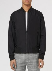 Topman Black technical bomber jacket