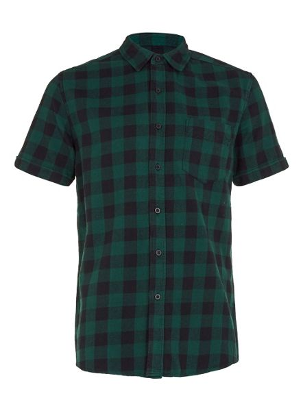 Topman Short sleeve buffalo checked shirt