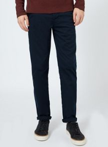 Topman Indigo Stretch Slim Fit Chinos