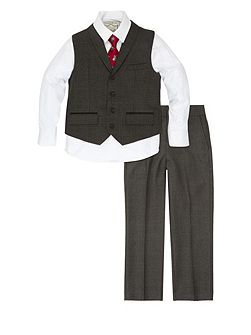 Boys Maxwell Check 4 piece Suit