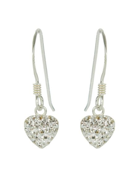 Accessorize Sterling silver pave heart earrings