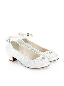 Girls Lace Pearl Cha Cha Cha Shoe