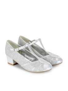 Monsoon Girls Sparkle T Bar Charleston Shoe