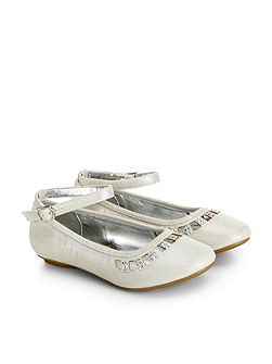 Girls Shimmer Diamante Ballerina Shoe