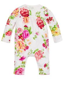 Monsoon Baby Girls Newborn Rosie Spot Sleepsuit