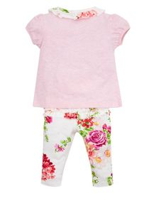 Monsoon Baby Girls Newborn Rosie Spot Jersey Set