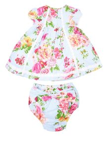 Monsoon Baby Girls Newborn Rosie Dress & Knicker