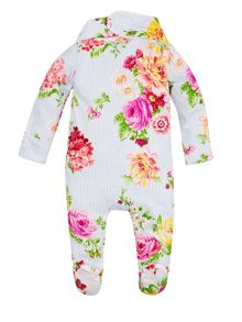 Monsoon Baby Girls Newborn Rosie Sleepsuit & Bib