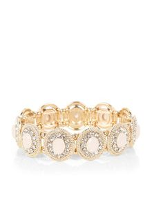 Accessorize Stone and crystal stretch bracelet