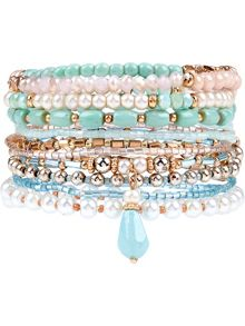 Accessorize 10 x eclectic stretch bracelets