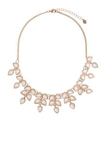 Accessorize Petunia resin collar necklace