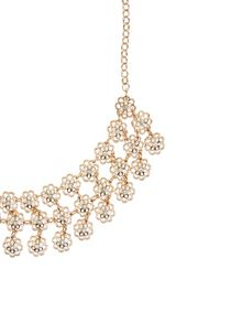 Accessorize Cascading daisy collar necklace