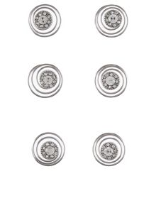 Accessorize 6 x diamante swirl clips