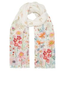 Accessorize Botanical border scarf