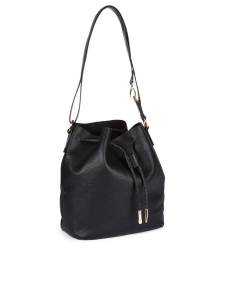 Accessorize Leather slouchy drawstring duffle bag
