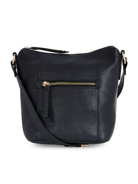 Accessorize Leather zip pocket across body bag