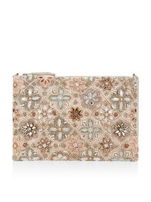 Accessorize Elsa ziptop clutch bag
