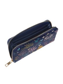 Accessorize Eve botanical zip around purse