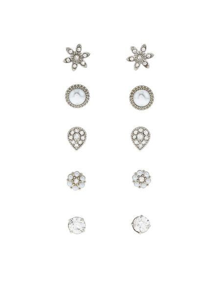 Accessorize 5 x classic occasion stud earrings