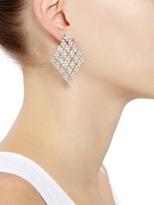 Accessorize Shimmering diamond chandelier earrings