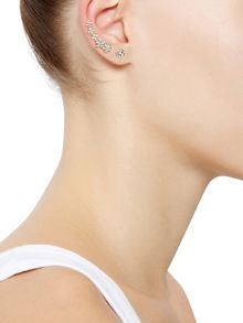 Accessorize Shooting flower ear cuff & stud earrings