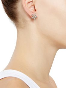 Accessorize Pave lilly stud earrings