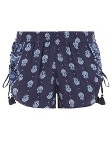 Accessorize Bianco block print shorts