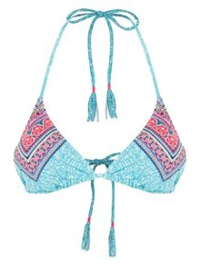 Accessorize Festival contrast triangle bikini top