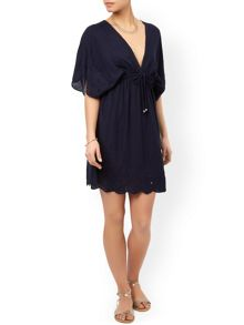 Accessorize Kai embroidered tabbard dress