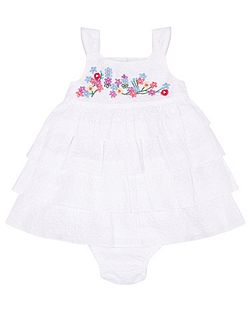 Baby Girls Newborn Dress & Knicker Set