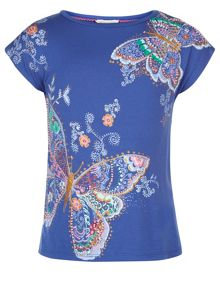 Monsoon Girls Bonita Butterfly Top