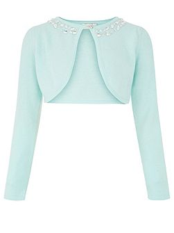 Girls Siera Jewel Longsleeve Cardigan