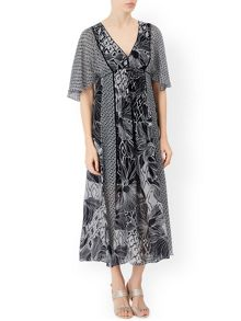 Monsoon Olivia Print Midi Dress