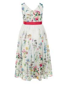 Monsoon Girls Garden Border Dress