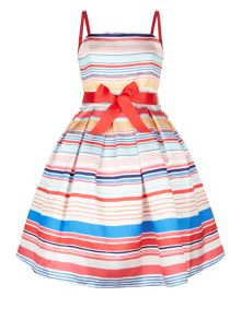 Monsoon Girls Teen Riviera Stripe Dress