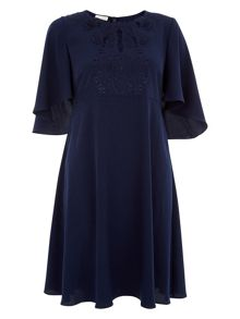 Monsoon Fiorella Embroidered Tunic Dress