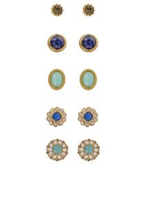 Accessorize 5 x heirloom stud earring pack
