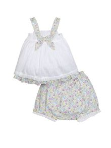 Monsoon Newborn Girl Millie Woven Short Set