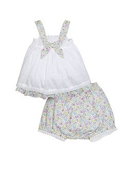 Newborn Girl Millie Woven Short Set