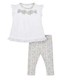 Monsoon Newborn Girl Millie Jersey Bow Set