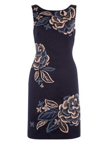 Monsoon Elda Jacquard Dress