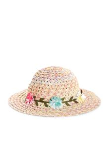 Monsoon Baby Girl Spacedye Garland Floppy Hat
