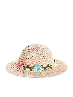 Baby Girl Spacedye Garland Floppy Hat