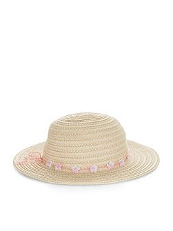 Girls Pretty Flower Floppy Hat