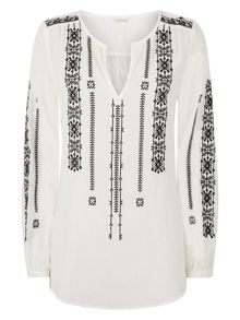 Monsoon Bernie Embroidered Top