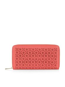 Accessorize Pretty cutwork zip around purse