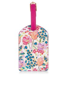 Accessorize Summer floral luggage tag