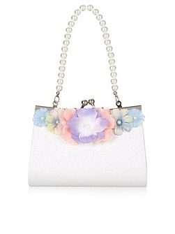 Girl Watercolour Glitter Frame Mini Bag